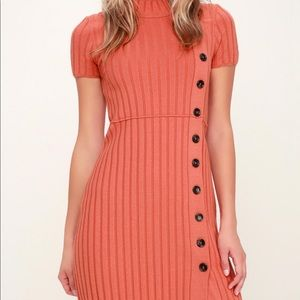 Free People // Ribbed Sweater Mini Dress